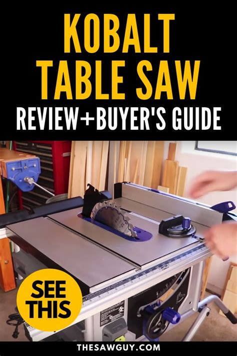 Aligned perfectly with a brush is still a large for your table. Kobalt Table Saw Review + Buyer's Guide - The Saw Guy in ...