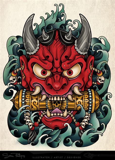 pin  nabeel sami  art tatouage oni tatouage