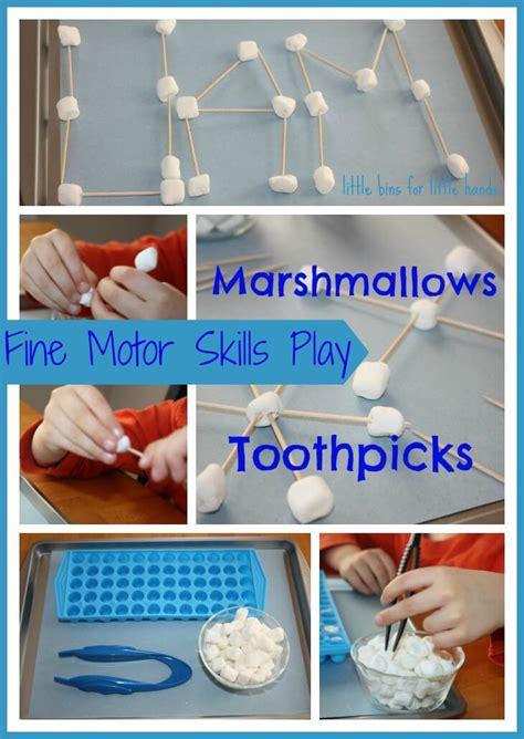 ten motor activities for children preschool and 814 | marshmallows and toothpicks fine motor skills activity
