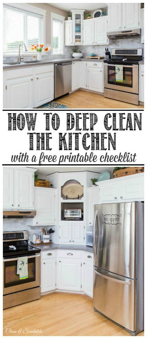 How To Clean The Kitchen  February Hod  Clean And Scentsible