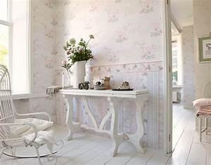 Computer Im Schlafzimmer : tapete landhaus blumen creme rosa gr n djooz 95667 1 ~ Markanthonyermac.com Haus und Dekorationen