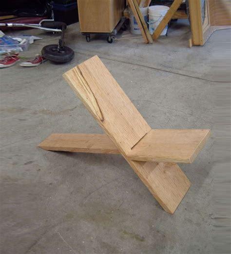 simple diy viking plank chair designs ideas  dornob