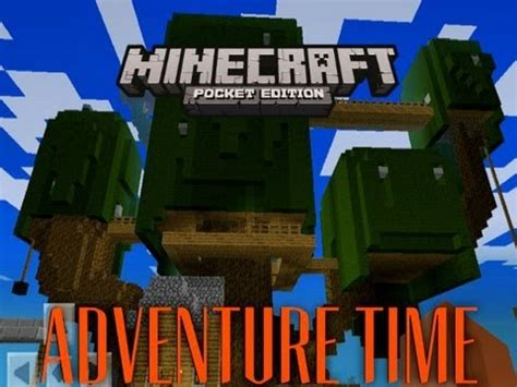 minecraft pe adventure time youtube