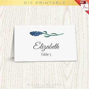 floral wedding placecard template printable escort cards With size of wedding name cards