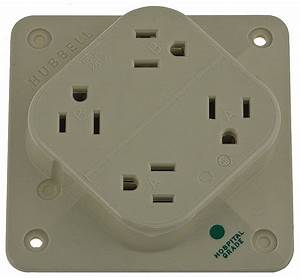 Hubbell Wiring Device-kellems 15  Hospital Grade  Receptacle  Ivory  No Tamper Resistant