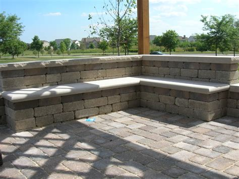 patio seat wall design brick patio seat wall and pergola