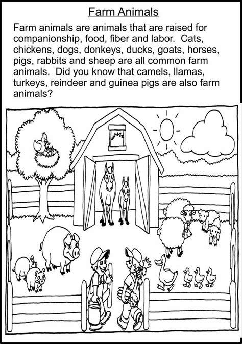 farm worksheets for kindergarten 183 free esl farm