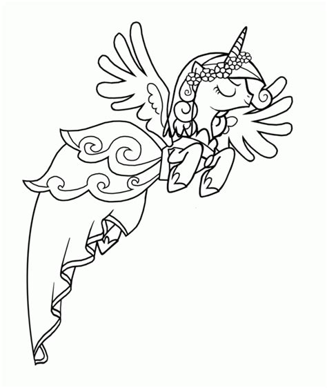 Kleurplaat My Pony Princess by Princess Cadence Coloring Page Coloring Home