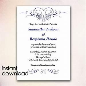 wedding invitation templates word amulette jewelry With wedding invitation sample ms word