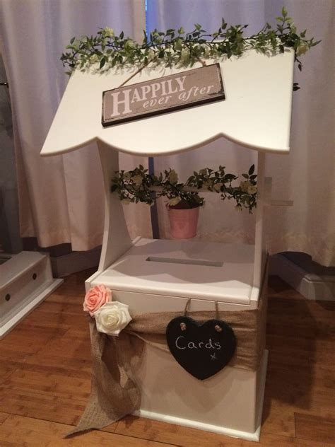 rustic themed wedding wishing  post box hire  south