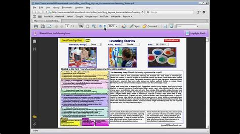 part  eylf learning stories sample  completing