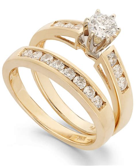 engagement ring bridal in 14k gold 9 10 ct t w rings jewelry watches macy s