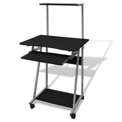 la boutique en ligne table de bureau pour ordinateur avec roulettes et plateau vidaxl fr