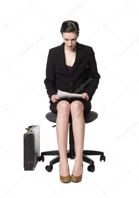 buisness sitting on a chair stock photo