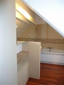 salle de bain sous pente et sous combles la d co craquante With petite salle de bain sous pente