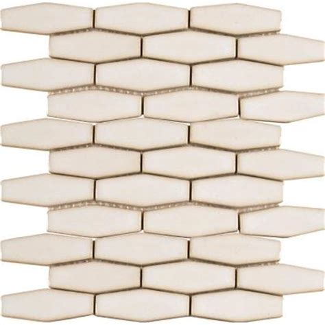 Hexagon Backsplash Tile Home Depot by Ms International Antique White Elongated Hexagon 12 In X
