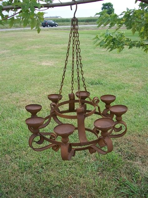 32 quot wrought iron grand candle chandelier