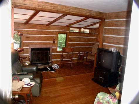 faux log cabin walls s interior finishes 9 of 30