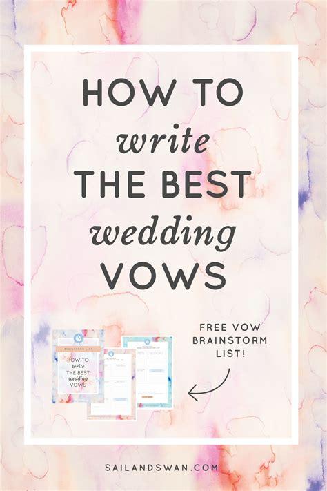 write   wedding vows wedding vow examples