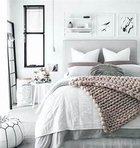 Chambre Gris Blanc : chambre gris et blanc en rose pour chambre moderne noir blanc gris ~ Melissatoandfro.com Idées de Décoration