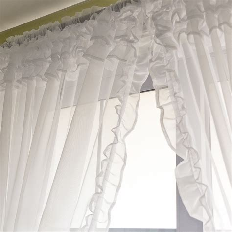 floor and decor coupon voile ruffle curtain