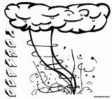 Tornado Coloring Pages Colouring Colorings Nature sketch template