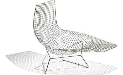 chaise bertoia knoll bertoia asymmetric chaise lounge hivemodern com