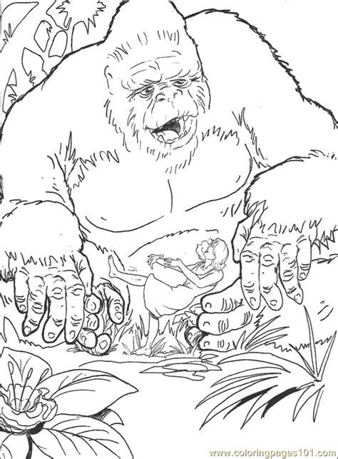 kingkong coloring page  gorilla coloring pages