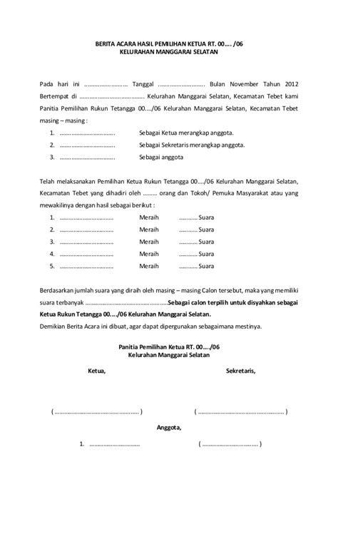 Contoh Surat Undangan Kelurahan Suratmenyuratnet