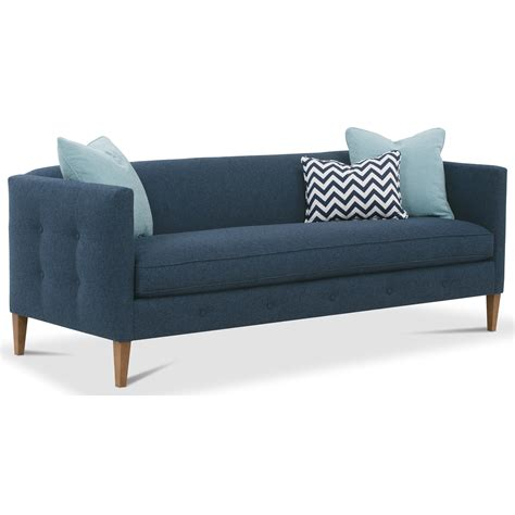 rowe claire contemporary bench cushion sofa dream home