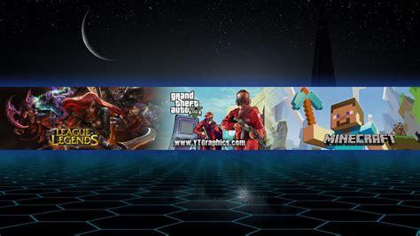mix gta lol minecraft youtube channel art banner