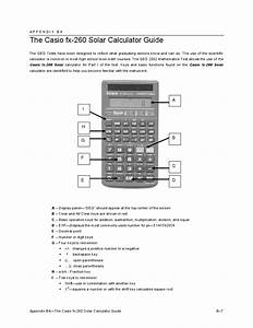 Casio 260 Calculator Instruction Guide