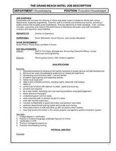 house cleaning description resume housekeeper duties list anuvrat info