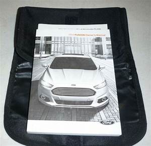 2014 Ford Fusion Owners Manual Guide Set 14 W  Case S Se