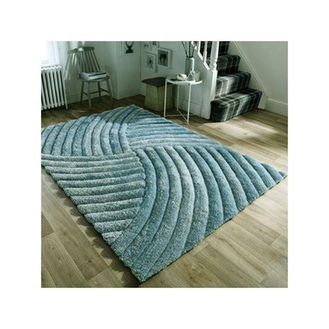 tapis design furrow bleu canard par flair rugs