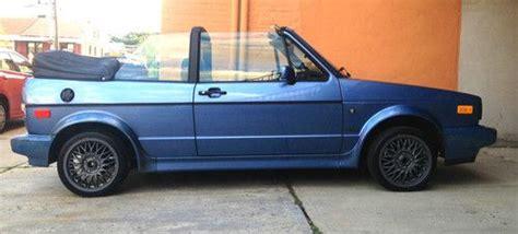 blue book value used cars 1989 volkswagen type 2 regenerative braking sell used 1989 volkswagen cabriolet wolfsburg edition convertible 2 door 1 8l in north bergen