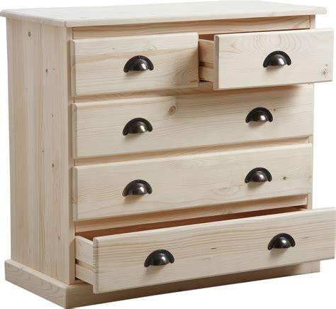 accessoire meuble de cuisine commode 3 tiroirs en bois brut