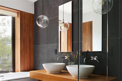 Modern Corner Bathroom Sink With Modern Lightingcorner