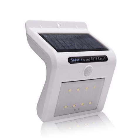 led solar 8 led solar power motion sensor garden security wall l