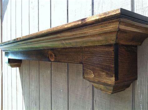 floating wall shelf fireplace mantel  rayscustomwoodwork