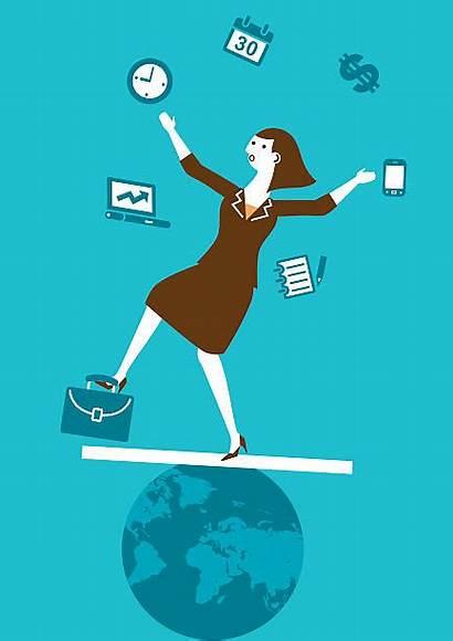 Juggling Clip Juggler Vector Business Multitasking Illustrations