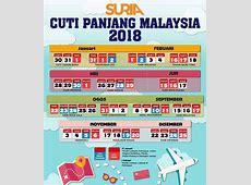 Cuti Panjang di Malaysia bagi Cuti Tahun 2018