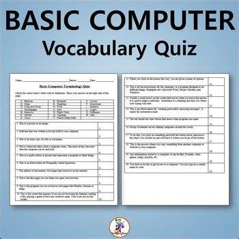 basic computer vocabulary quiz  word list  techcheck