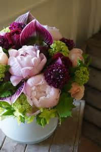 Peony and Orchid Flower Arrangement