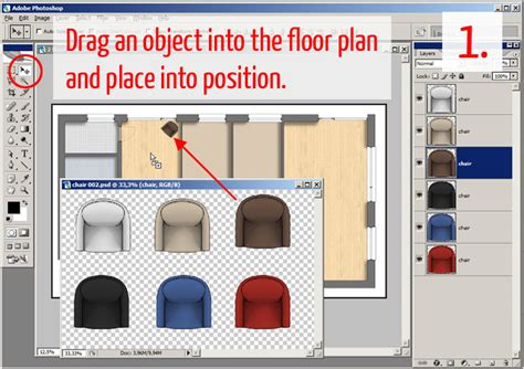 floor plan template photoshop tutorial adding textures furniture and shadows in adobe