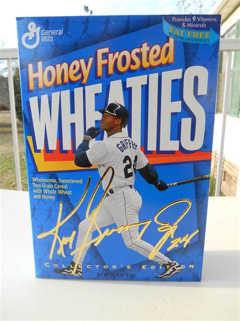honey frosted wheaties cereal box ken griffey