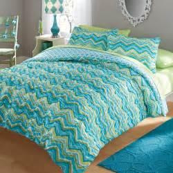 your zone ruched chevron bedding comforter and sham set walmart com