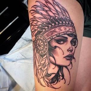 Tatouage Plume Indienne Signification : tatouage fille indienne loup dessin fille comment dessiner une fille ~ Melissatoandfro.com Idées de Décoration