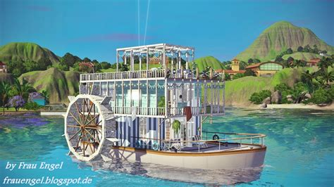 Houseboats Sims 3 by My Sims 3 Sea Houseboat By Frau Engel
