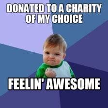 Charity Meme - meme characters memes com